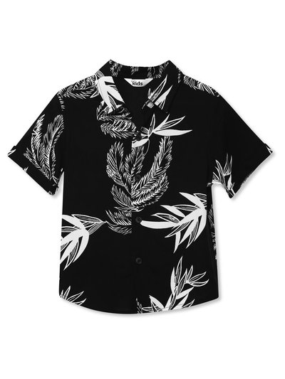 Leaf print shirt (3-12yrs)