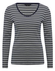Long sleeve v-neck striped top