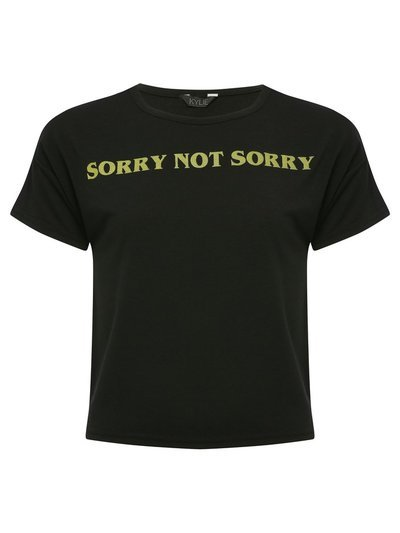 Teen sorry not sorry slogan t-shirt