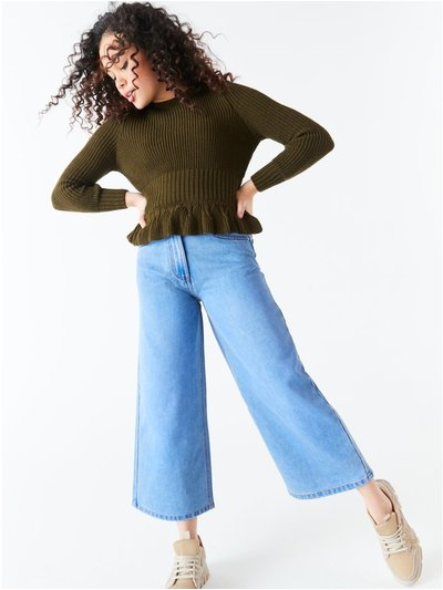 Teen denim culottes