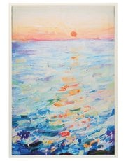 Sea framed canvas print