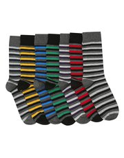 Stripe socks seven pair pack