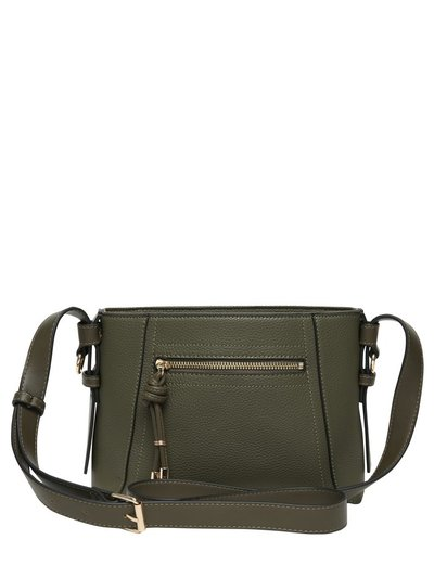 Zip detail cross body bag