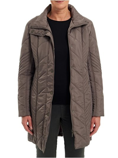 TIGI brown quilted coat