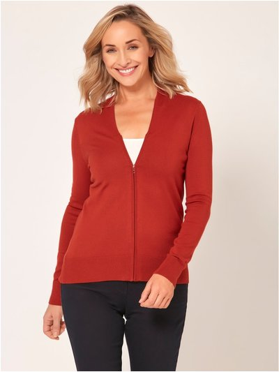 Spirit V neck zip up cardigan