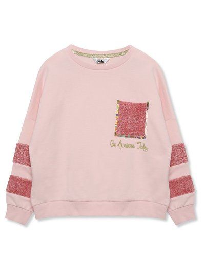 Boucle stripe slogan sweatshirt (3-12yrs)
