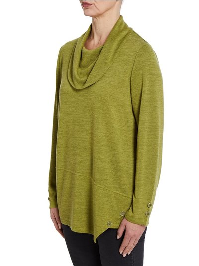 TIGI green cowl neck tunic