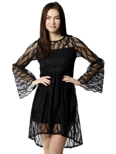 Izabel mesh overlay skater dress