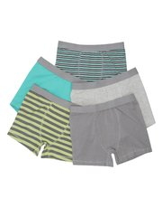 Stripe and plain trunks five pack