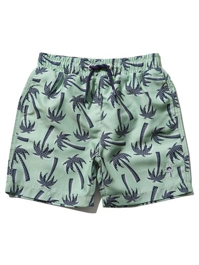 Palm print swim shorts (3 - 13 yrs)
