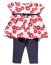 Daisy smock top and leggings set