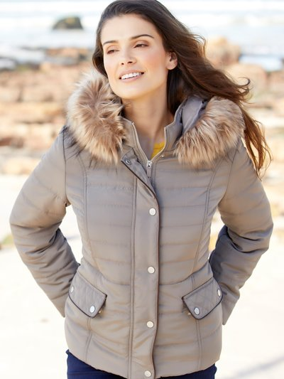 Petite short padded coat