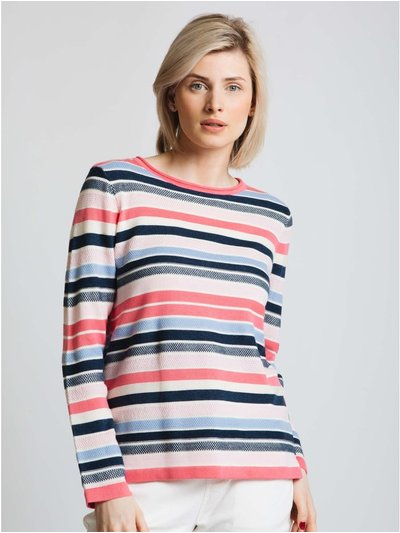 Jessica Graaf texture multi stripe sweater