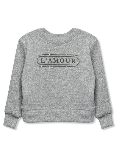 Diamante slogan jumper (3-12yrs)