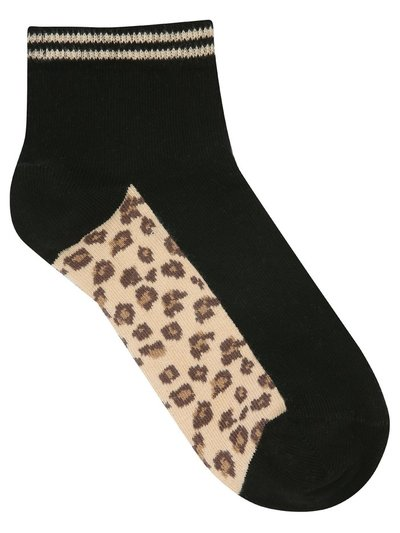 Teen leopard socks