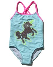 Unicorn two way sequin swimsuit (3 - 12 yrs)