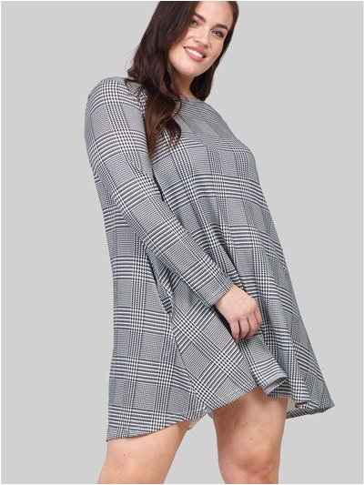 Izabel Curve checked swing dress