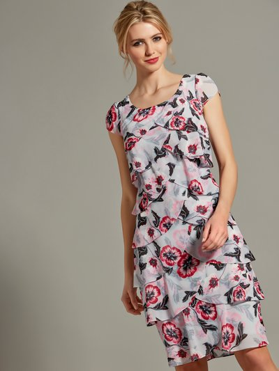 Floral chiffon shutter dress
