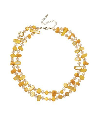 Mustard Shell Layered Necklace