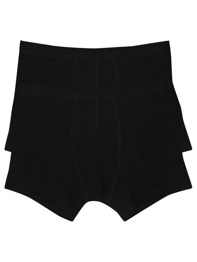 Plain black bamboo trunks two pack