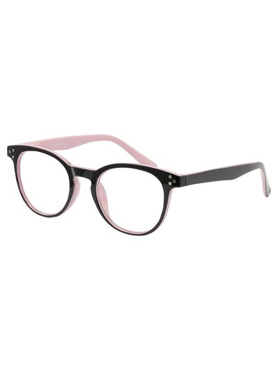 Black lilac trim reading glasses