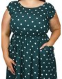 Scarlett and Jo plus spot pocket dress