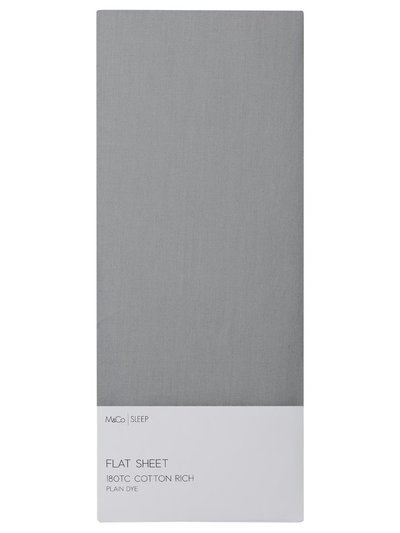 Cotton rich grey flat sheet