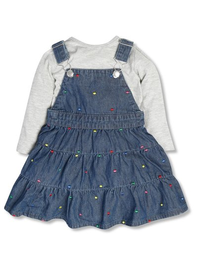 Spotty pinafore and t-shirt set (9mths-5yrs)