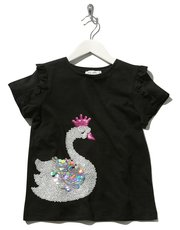 Kite and Cosmic Sequin swan t-shirt