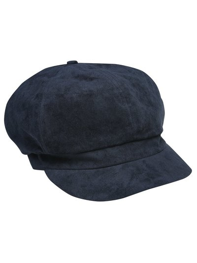Suede baker boy hat