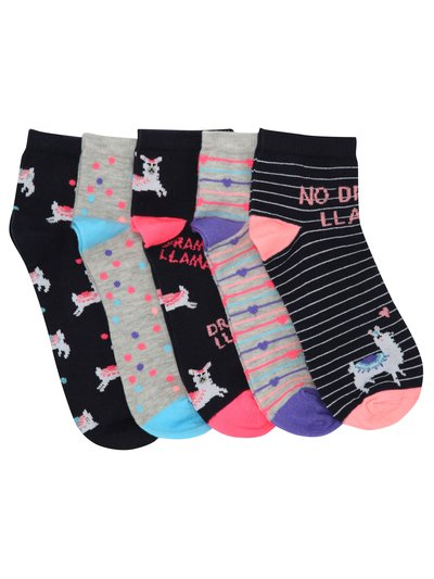 Teen llama socks five pack