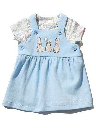 Peter Rabbit pinafore dress and bodysuit set (Newborn - 2 yrs)