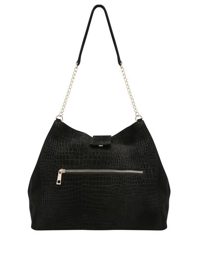 Suede croc shoulder bag
