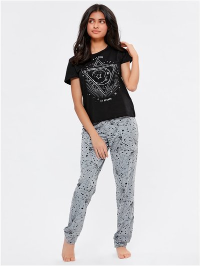 Teen star and moon pyjamas