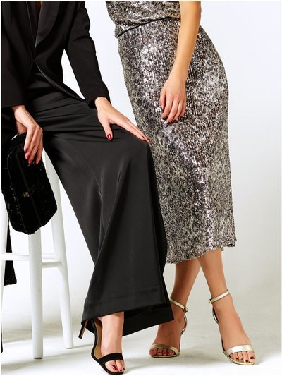 Sequin bias midi skirt