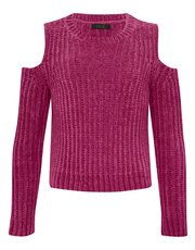 Teens' cold shoulder chenille jumper
