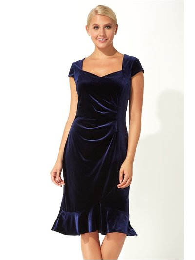 Roman Originals velvet sweetheart flute hem dress