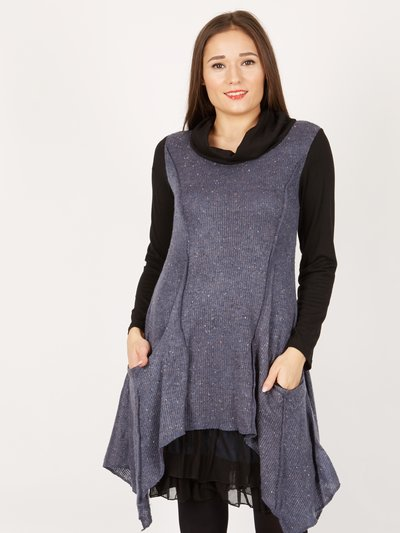 Izabel long sleeved overlay tunic dress