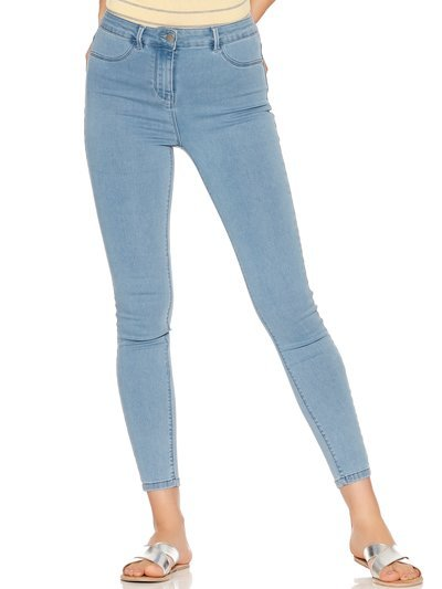 Fly front jeggings