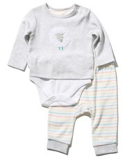 Sheep bodysuit and joggers set (Newborn-9mths)