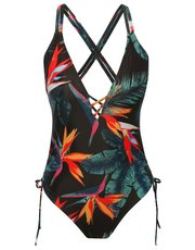 Birds of paradise tummy control swimsuit