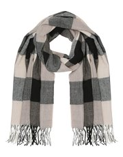 Checked blanket scarf