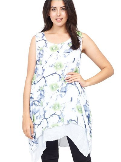 Izabel Curve layered hem floral tunic top