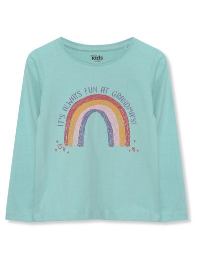 Grandmas slogan rainbow t-shirt (9mths-5yrs)