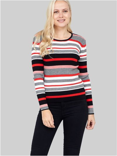 Izabel striped knitted pullover