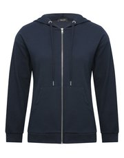 Spirit ribbed zip through hoodie