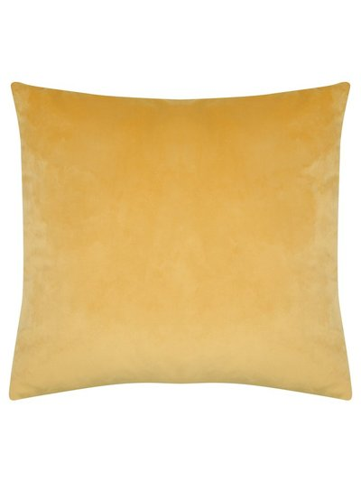 Golden yellow velour cushion