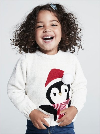 Penguin Christmas jumper (9mths-5yrs)
