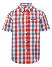 Firetrap blue and red check shirt
