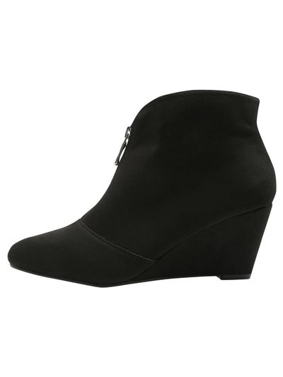 Amelia front zip wedge boot
